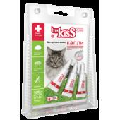 Капли репеллентные  для крупных кошек весом более 2 кг, 3 шт по 2,5 мл МК05-00360