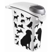 "Контейнер для корма ""Собаки"", черно-белый, на 10кг/23л, 23*50*50 см"
