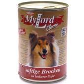 Консервы для собак  кусочки в соусе Говядина и Печень