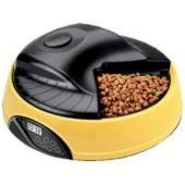 Автокормушка на 4 кормления для сухого корма и консерв, с емкостью для льда Желтая PF1Y