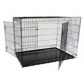 Клетка металлическая с 2 дверкам черная (Wire cage black 2 doors)