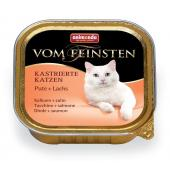 Консервы  для кастрированных кошек с индейкой и лососем (Vom Feinsten for castrated cats)