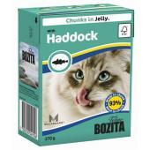 Feline Haddock Мясные кусочки в желе для кошек (с морской рыбой)