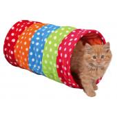 Тоннель для кошки 25*50 см, флис, горошек (4291)