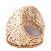 Плетеная лежанка-домик полузакрытая для животных 40*39 см
